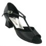 Dance Shoes of TN Yolanda Black Leather